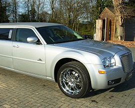 8 seat Chrysler 300c stretched limousine